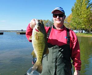 Dan Kimmel's 5 pounds 11 ounce Mullett Lake smallmouth bass