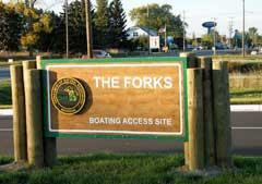 The Forks MDNR public access site on the Cheboygan River