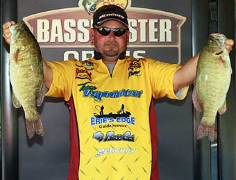 Day 1 leader Pro angler David Hasty of Toledo Ohio finished 2nd behind Schmitz by 13 ounces