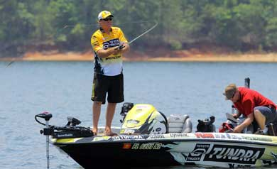 Bass pro Big Show Terry Scroggins appeared as the star of the inaugural live Day on the Lake on BASS Insider