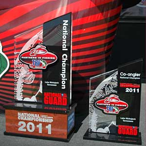 2011 TBF national championship boater and co-angler trophies