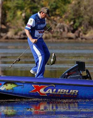 Bass pro Alton Jones leads the 2011 Elite Series point race after the 1st two Florida events