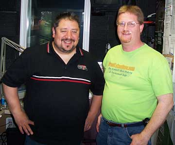 AM Outdoors Radio host Duran Martinez on the radio with Dan Kimmel of GreatLakesBass.com