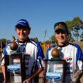 James Graves III won the 11 to 14 year olds division while Lance Freeman won the 15 to 18 division on Bayou DeSiard during the 2011 Bassmaster Junior World Championship