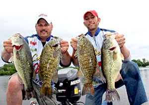 Brad Rubin and Chris Jones teamed up to win the inaugural North American Bass Circuit's first ever tournament June 11, 2011 on Wisconsin's Lake Winnebago chain