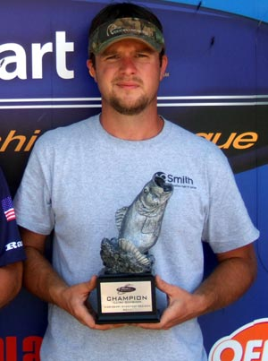 Brandon Depew of Odin, Illinois, was the highest-placing co-angler at the July 9 BFL Illini Division event