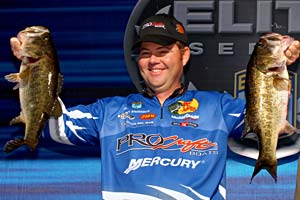Elite angler Brian Snowden led the first three days of the 2008 Elite Series tournament on the Harris Chain of Lakes