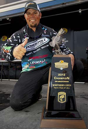 Chris Lane wins the 2012 Bassmaster Southern Open on Florida's Harris Chain and a spot in the 2013 Classic