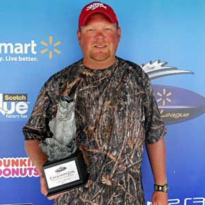 Boater Chris Wilkinson of Farmersburg, Ind., won the June 25 BFL Hoosier Division tournament on Lake Patoka to earn $3,926