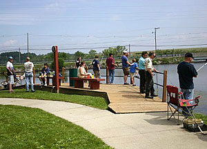 Anglers of all ages participate in the City of St Louis Michigan Joe Scholtz Annual Free Fishing Derby