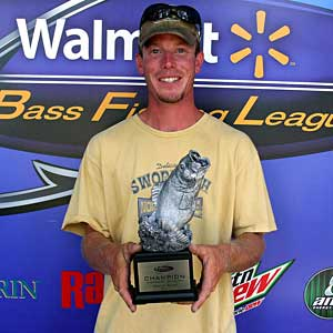 Cody Kelley of Schoolcraft, Michigan, was the winning co-angler in the July 30 BFL Michigan Division winning tournament, winning $1,514