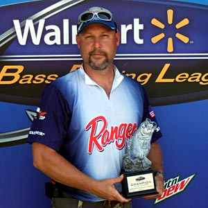 Boater Curt Erpenbach of Anderson, Indiana, won the July 9 BFL Illini Division tournament on the Mississippi River at Fort Madison to earn $4,555