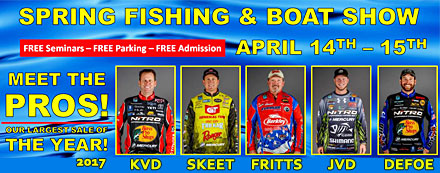 The 2017 D & R Sports Center Spring Fishing and Boat Show features an awesome lineup of seminars speakers including Kevin VanDam, Skeet Reese, David Fritts, Jonathon VanDam and Ott DeFoe