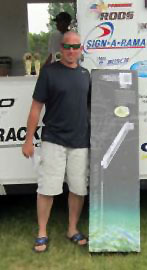 Team #34, David & Griffen Gloden were the big winners of the free 8 foot Power-Pole raffle