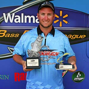 Derrick Soulliere of Belle River, Ontario, won the co-angler division in the Detroit River event on Aug. 27 to take home $1,511
