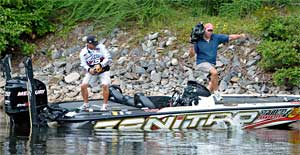 Nitro pro Edwin Evers of Oklahoma is among the field competing in the inaugural Bass Pro Shops PAA All Star Series event on Lake Ray Hubbard