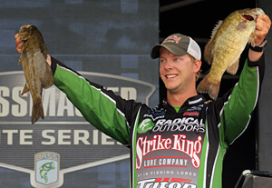 Smallmouth bass like these two professional bass angler Jonathon VanDam hold should be abundant and large when the 2013 Bassmaster Elites Series makes their first visit ever to Michigans Lake St. Clair