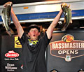 Newcomersville Ohio pro Fletcher Shryock triumphs on Lake Norman in the B.A.S.S. Southern Open with quality bass