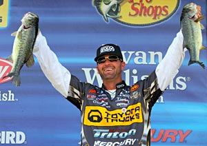 Gerald Swindle missed victory by 1 ounce on Toledo Bend at the 2011 Elite Series event
