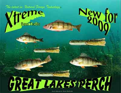 Xtreme Bass Tackles Great Lakes Perch bass fishing tube baits