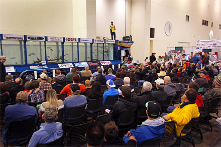 The Hawg Trough is one of the many popular and educational seminar stages during the 2019 Ultimate Sport Show Grand Rapids.