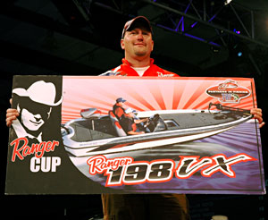 Virginia's Kenny Beale Jr lost the overall victory but took the Ranger Cup award and a new Ranger 198VX bass boat