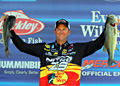 Reigning Bassmaster angler of the year Kevin VanDam smashed a huge limit to vault into 2nd place 4 ounces behind the leader Evers in the West Point Lake Elite Series event