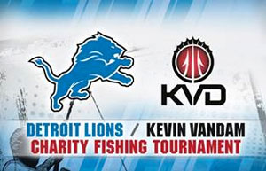 Kevin VanDam Detroit Lions Charity Fishing Tournament
