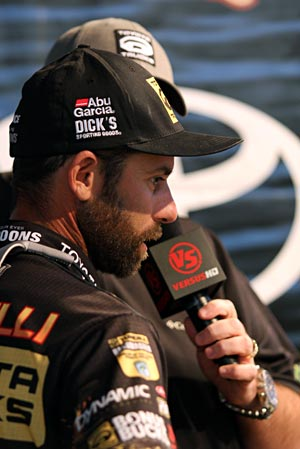 Keeping the pressure on Keith Combs at the Toyota Texas Bass Classic is Toyota pro Michael Iaconelli after a day two limit weighing 25 pounds