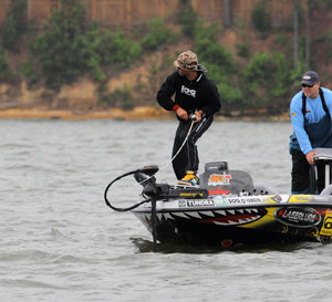 Mike Iaconelli of Runnemede, NJ considered becoming a hockey pro before becoming a top bass tournament angler