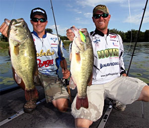 Joshua Douglas and Corey Brant won the North American Bass Circuit qualifier on Lake Minnetonka with 5 bass weighing 23.53 pounds