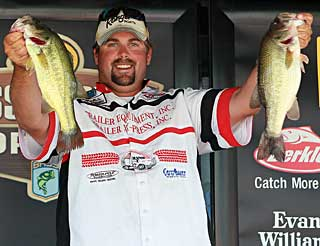 Nate Wellman of Newaygo Michigan maintained his lead at the final 2010 Bass Pro Shops Bassmaster Northern Open at the Chesapeake Bay