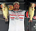 Newaygo Michigan pro angler Nate Wellman leads the Bassmaster Northern Open after day one on the Chesapeake Bay