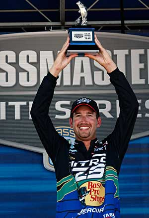 Ott Defoe takes the 2011 Bassmaster Rookie of the Year title