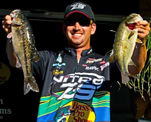 Bassmaster Rookie of the Year Ott Defoe finished in 2nd place during the All-Star Semi-Final on Lake Jordan