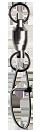 P-Line ball bearing swivel with crosslock snap.