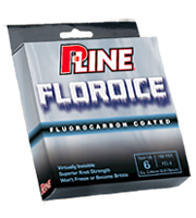 P-Line Floroice fishing line is a combination of copolymer with a silicon fluorocarbon coating, a unique blend that resists freezing, and stays limp in the coldest of conditions making it the perfect line for hardwater fishing.