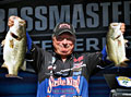 2011 Alabama Charge Elite Series day one leader Denny Brauer with two big largemouth bass caught from Pickwick Lake