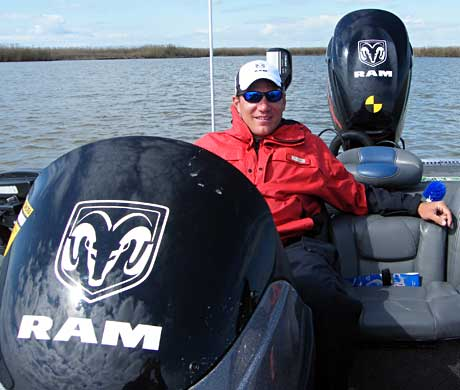 2010 Bassmaster Northern Opens points champ Ryan Said has a smile on his face despite a challenging and difficult day on the Louisiana Delta