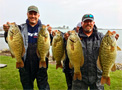 Scott Dobson and Kyle Greene broke the 30 pound mark retaking the Lake St. Clair 5-bass tournament limit record during the October 14, 2017 Monster Quest event with a huge 30.31 pounds catch of smallmouth bass.