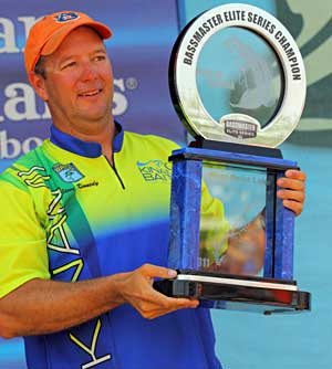 Auburn Alabama bass pro Steve Kennedy takes his second Bassmaster title at the 2011 Pride of Georgia Elite Series event on West Point Lake