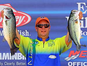 Elite angler Steve Kennedy's final day limit of 18 pounds 11 ounces gave him the come from behind victory on West Point Lake