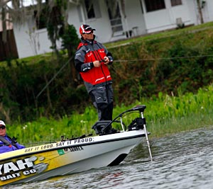 Bass angler Terry Butcher fishes during a 2011 Bassmaster event