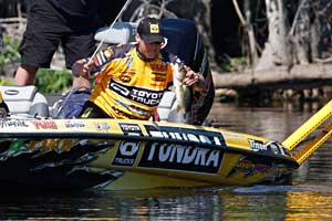 Pro angler Terry Scroggins sits in 2nd place in the Bassmaster Toyota Angler of the Year standings after Pickwick Lake