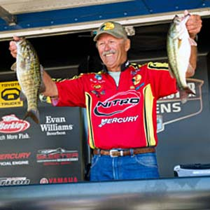 Tommy Martin leads the Bassmaster Central Open on Table Rock Lake as the only angler in the entire field to weigh two limits