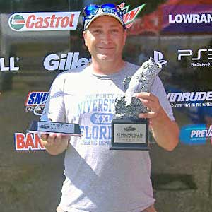 Vince Lawyer of Webster, N.Y., was the highest-placing co-angler in the July 23 BFL Northeast Division event, earning $1,603