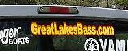 GreatLakesBass.com standard truck and boat decal