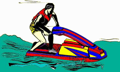 GreatLakesBass.com Bass Fishing Humor article jet skier speed bump from the tournament fishing dictionary